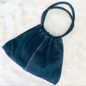 Leather Mini Monte Cassino Vera Pelle Tote Bag